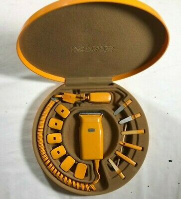 Vintage Lady Norelco Home Beauty Salon 30LS Yellow Case Model HP 2116