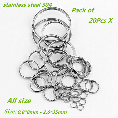 ​500Pcs Stainless Steel Round Split Rings Small Double Keyring Jewelry Making
