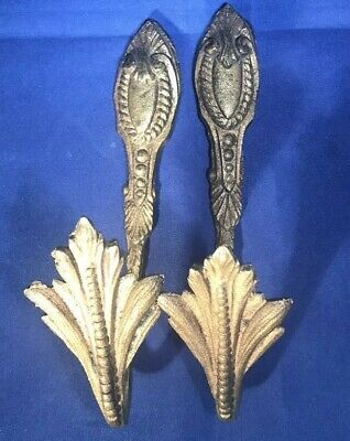Antique French Gold Gilted Tiebacks Pair