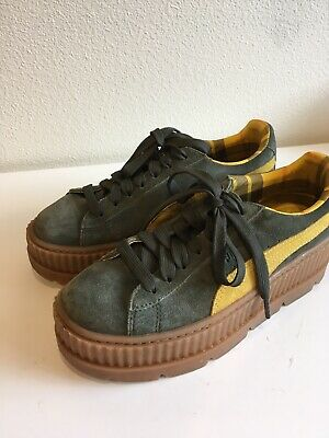 PUMA FENTY BY Rihanna Suede Cleated Creeper Sneakers Green