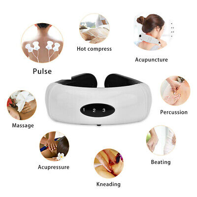 Electric Relief Cervical Neck Massager Body Shoulder Relax Massage Relieve Pain