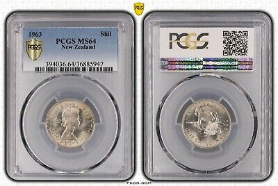 New Zealand 1963 shilling PCGS MS64 Choice Uncirculated