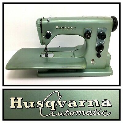 Rare Vtg 220V Industrial Strength Husqvarna Viking Automatic Sewing Machine 21-E