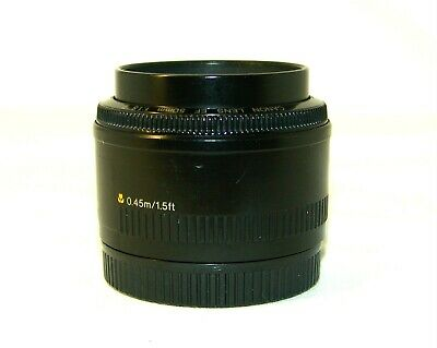 Canon Lens EF 50mm 1:1,8 II,made in Japan