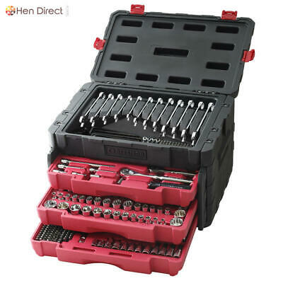 450 Pc SAE/Metric Mechanic's Tool Set Stainless Steel with 3 Drawer Storage Case