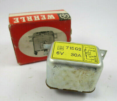 original Wehrle 6V 30A Regler Relais Regulator 71502 - NOS
