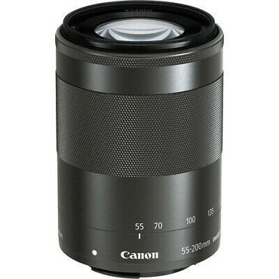 Brand New! Canon EF-M 55-200mm f/4.5-6.3 IS STM Lens Black Free Ship from USA!