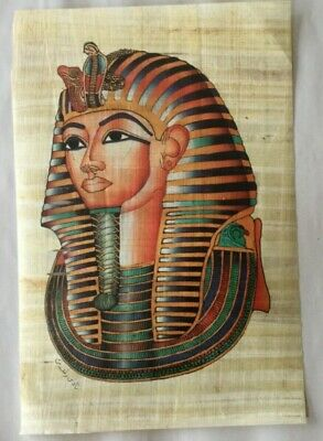 """AUTHENT Collection Set of 4 Handmade Papyrus Egyptian Art Painting/_32x12/"""" Inches"""