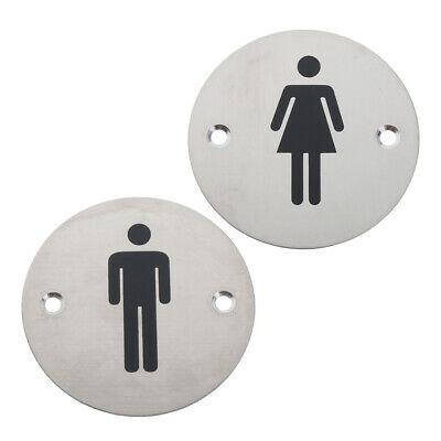 2Pcs Toilet Door Signs Bathroom Door Plaques Men/Women for Home Store KTV Decor
