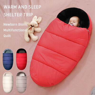 Footmuff Pram Cosy Toes Pushchair Stroller Buggy Seat coral fleece hollow cotton