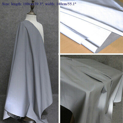 1M Silver Reflective Fabric Safety Warning Costume Cloths DIY Sewing Craft Decor