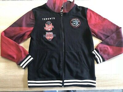 Toronto Raptors Hoodie Size L Long Sleeve Full Front Zipper
