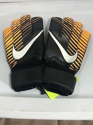 NEW Nike GK Vapor Grip 3 Goalkeeper Gloves Adult Size 10 Soccer black orange