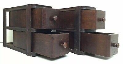 4 ANTIQUE EARLY 1900'S Singer Treadle Sewing Machine Cabinet Drawers Oak