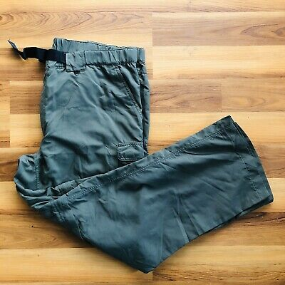 Boy Scouts of America Mens Forest Green Zip Off Cargo Supplex Nylon Pant Size XL
