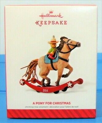 2018 Hallmark A PONY FOR CHRISTMAS Teddy Bear knight ORNAMENT #21