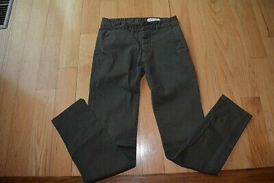 Denim Co. Boys Green Chino Pants 28 x 32 Slim