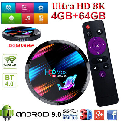 H96 MAX X3 8K Android 9.0 4+64G 5G WIFI BT Smart TV BOX Quad Core H.265 Amlogic