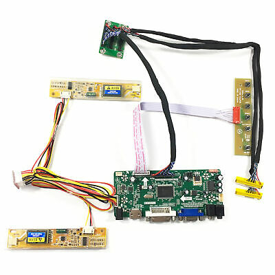 "Fit To 2pcs 15.6"" 1366x768 B156XW01 LCD Screen VGA DVI HDMI LCD Controller Board"