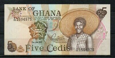 GHANA Africa 5 Cedis UNC 1977 Replacement Note Z/99