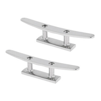 MOORING BOAT HIGH QUALITY CAMEL DECK CLEATS 316 STAINLESS STEEL 200MM SAILING