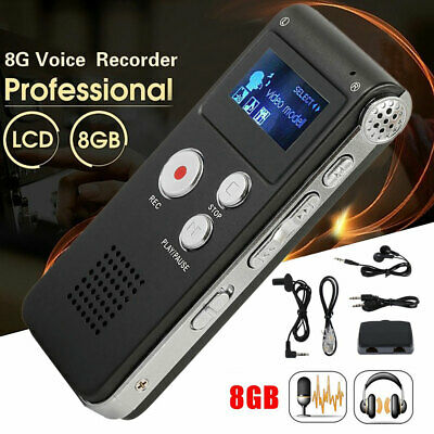 8GB 2colorDigital Sound Audio Voice Recorder Player Dictaphon Audio Rechargeable