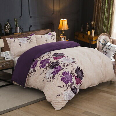 Floral Doona Duvet Quilt Cover Set Single Queen King Size Bedding Set Pillowcase