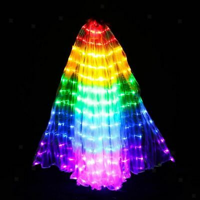 2pcs Egypt LED Isis Wings Belly Dancing Dance Costume Light up Wing 360 Degree