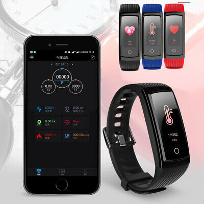 Smart Watch Bluetooth Heart Rate Blood Pressure Monitor Fitness Tracker UK