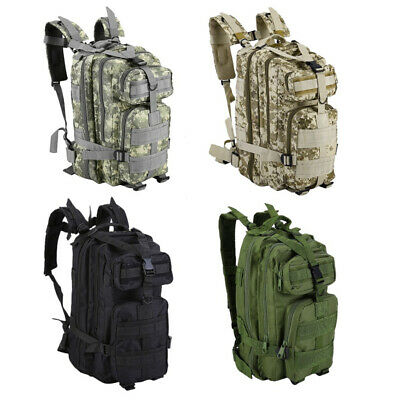 30L Military Tactical Army Backpack Rucksack Camping Hiking Trekking Outdoor B