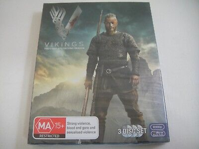 Vikings: Complete Second Season Two 2 - Sanity Slipcover Blu-Ray | New | Rare