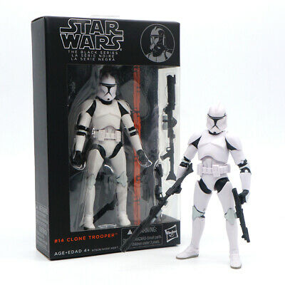 "Star Wars The Black Series Imperial Clone Trooper 6"" Action Figure Toy with Guns"