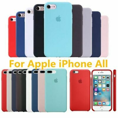 Genuine Silicone Luxury Ultra-Thin Case For Appl i Phone X 8 7 6 Plus XS MAX XR
