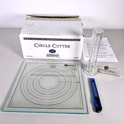 Creative Memories Circle Cutter Glass Tray Mat Rotating Blade