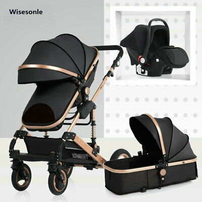 New Baby Trolley High Landscape 3 To 1 Baby Stroller Double Faced Children