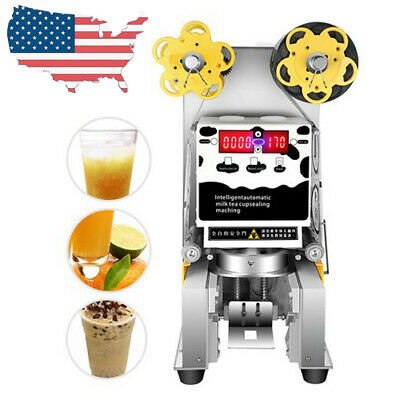 Pro Electric Automatic Cup Sealer Sealing Machine Tea Milk Coffee From US Sale