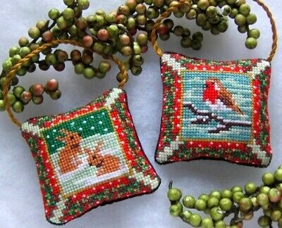Country Christmas Hanging Decorations Cross Stitch Kit, Sheena Rogers Designs