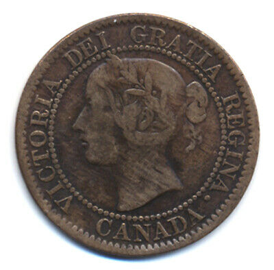 Canada 1 One Large Cent Coin Queen Victoria 1859