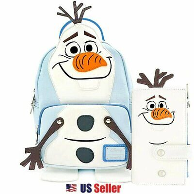 Loungefly x Disney Frozen 2 Olaf Cosplay Faux Leather Mini Backpack Wallet