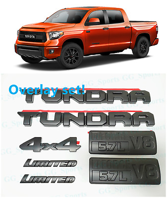 """2007-2014 /""""TOYOTA/"""" and /""""TUNDRA/"""" TAILGATE EMBLEMS 75471-0C050 75444-0C010"""