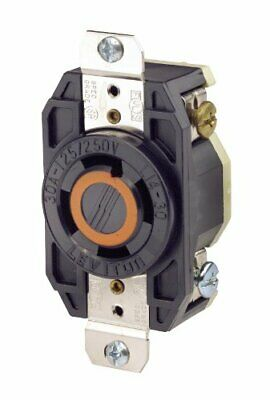 Leviton 2710 30 Amp, 125/250 Volt, Flush Mounting Locking Receptacle, Industrial