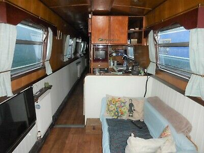 Narrowboat Liveaboard - 57ft - with River Thames mooring in Egham - a great boat