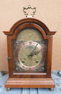 "Nice "" Warmink "" , nut wood table / bracket clock."