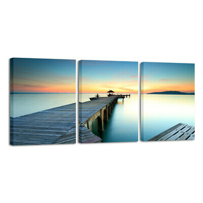 Canvas Print Pictures Painting Photo Wall Art Home Decor Landscape Sea Blue