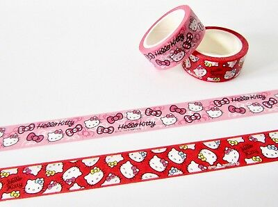 Love heart cats cute kawaii kitsch washi sticky masking deco tape