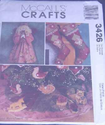 stars and hearts Uncut A Guardian Angel Christmas decorating collection McCall/'s # 7774 Pattern - Angels tree skirt wall hanging