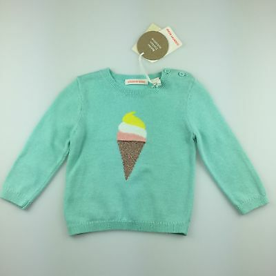 Girls size 00, Country Road, cotton knit sweater / jumper, ice cream, NEW