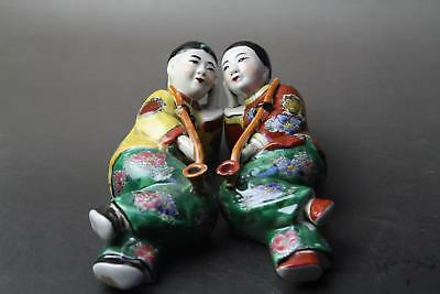 Exquisite Chinese porcelain handmade figurines of men and women.