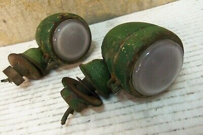 2 Used Genuine Butlers Military Army Austin K9 Side Frosted Lamps