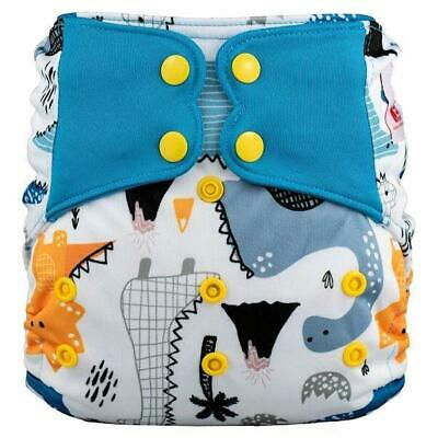 Modern Cloth Nappy Baby MCN Pocket Reusable OSFM Washable Elf Diaper Dinosaurs